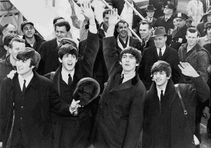 The Beatles Arriving at Kennedy Airport in 1964