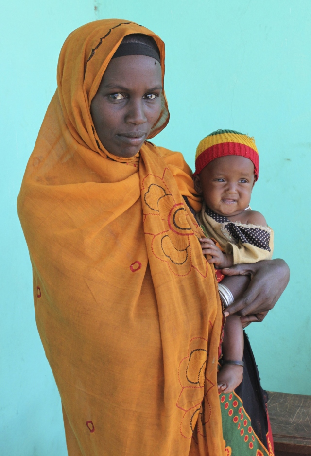 Woman receiving receiving nutritional support in southern Ethiopia