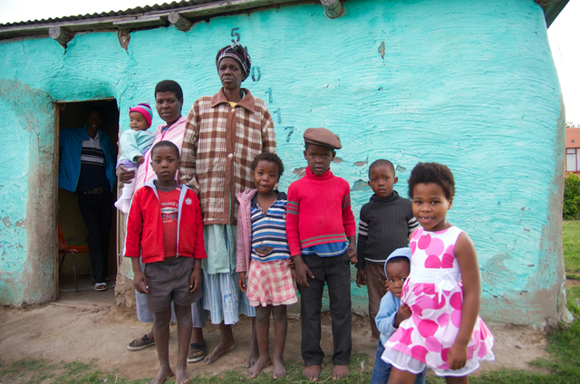 South African family affected by HIV/AIDS.