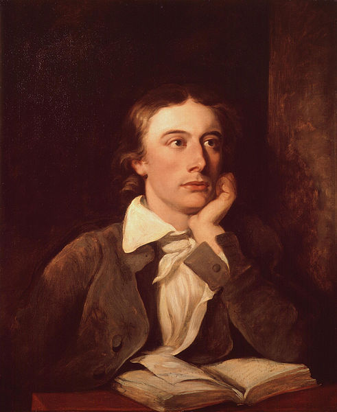 Portrait of John Keats, by William Hilton (died 1839)